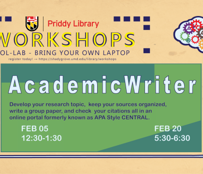 Academic Writer workshop flyer