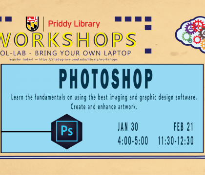 Adobe Photoshop workshop flyer