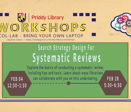 Workshop Flyer: Search Strategy Design for Systematic Reviews