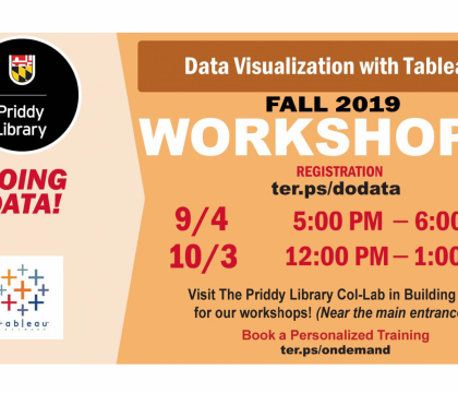 Fall 2019 Workshop:Data Visualization with Tableau