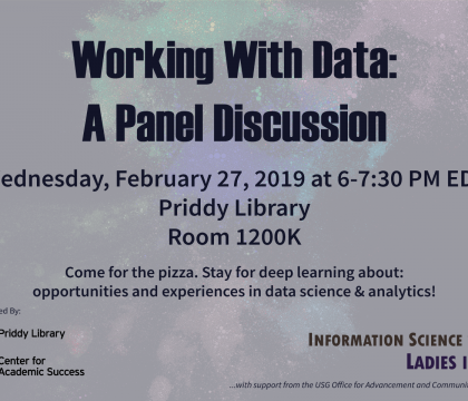 Working With Data: A Panel Discussion