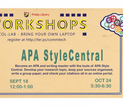 APA Style CENTRAL Workshop Flyer