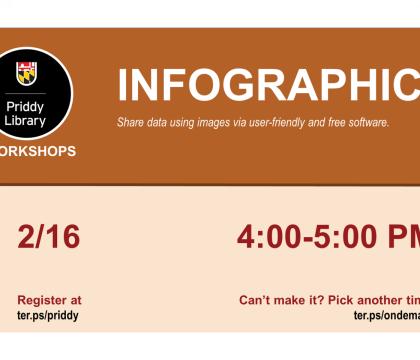 Infographics workshop flyer