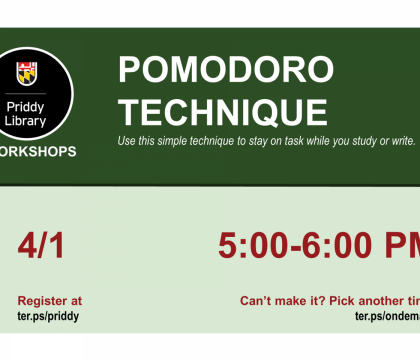 Pomodoro Technique Workshop Flyer