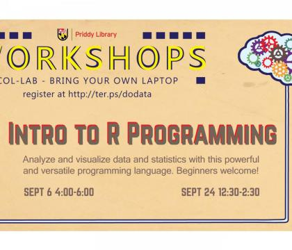 Introduction to R Workshop Flyer