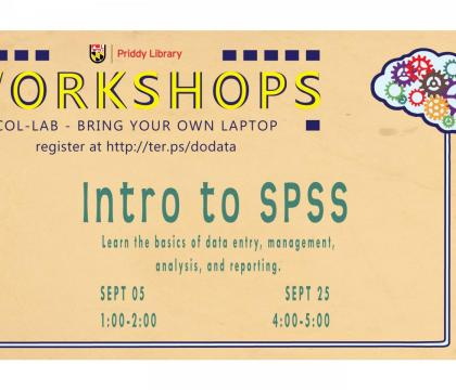 Intro to SPSS Workshop Flyer