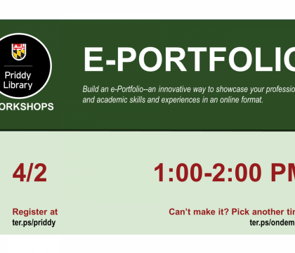 ePortfolio Workshop Flyer