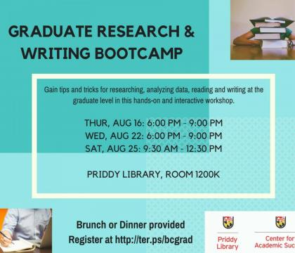 Graduate Research & Writing Bootcamp