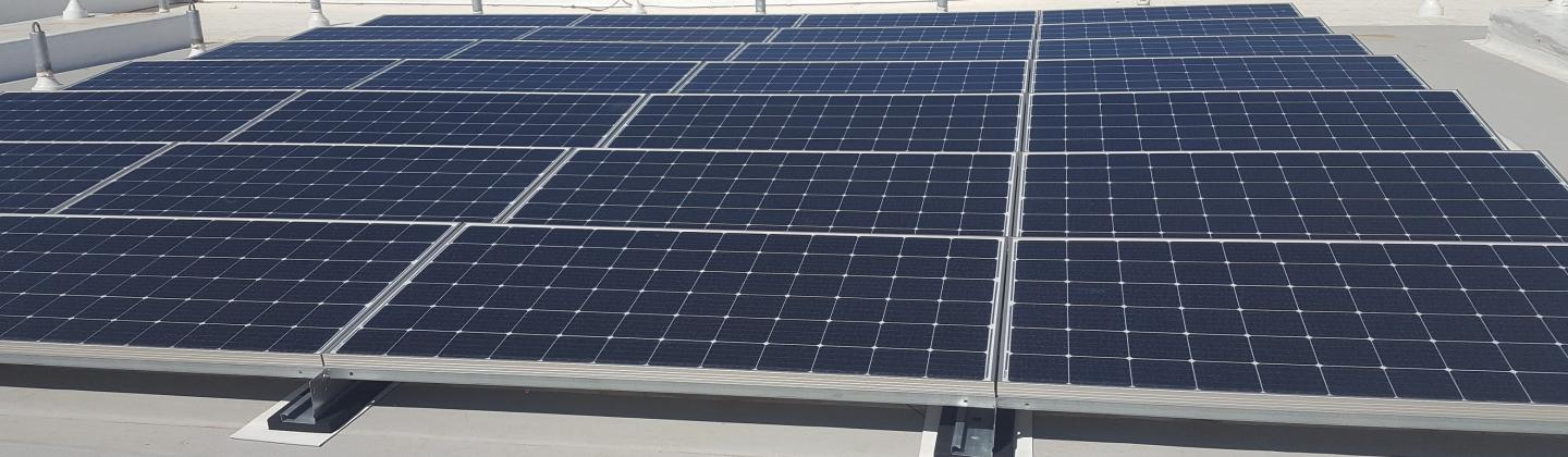 Solar Panels on the Roof of the BSE