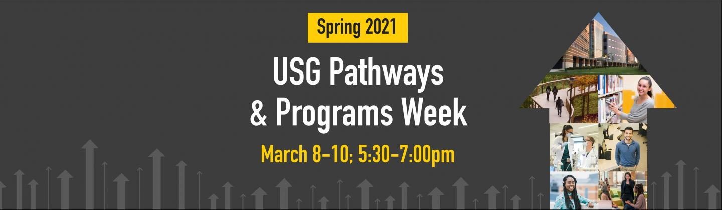 Spring 2021 Pathways & Programs Week, March 8-10; 5:30-7pm