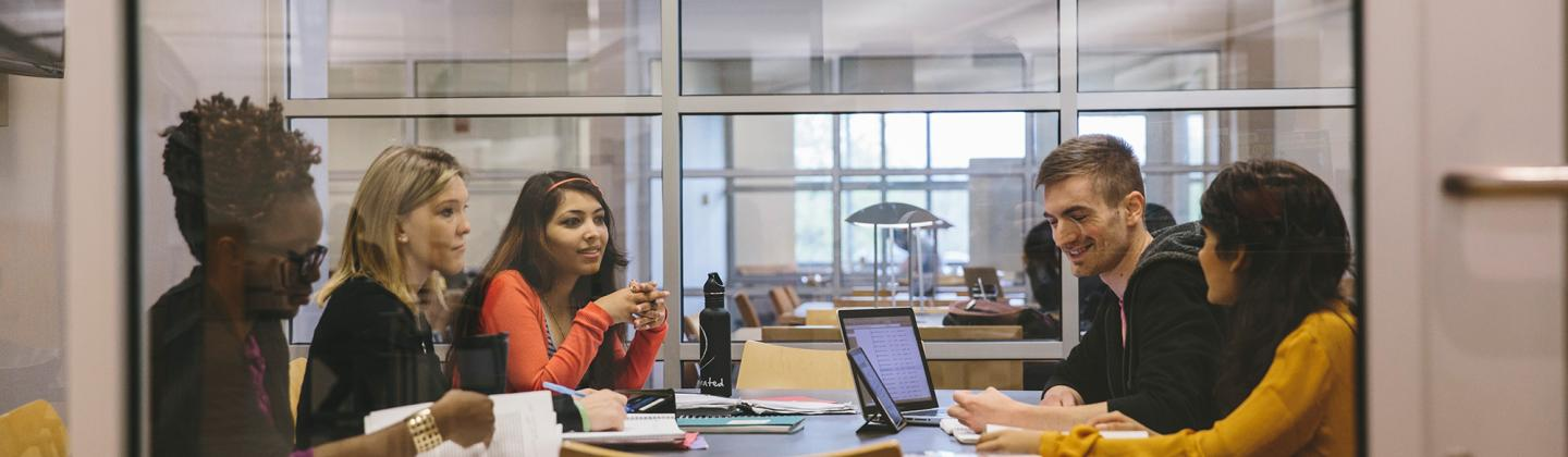 Group of Students in Study Room