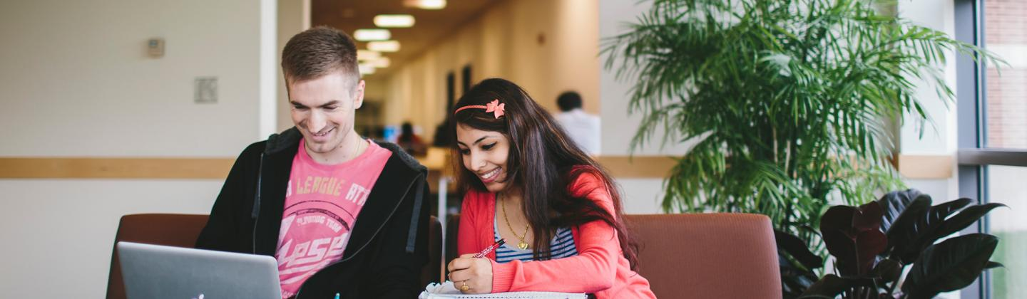 Two Students in Library