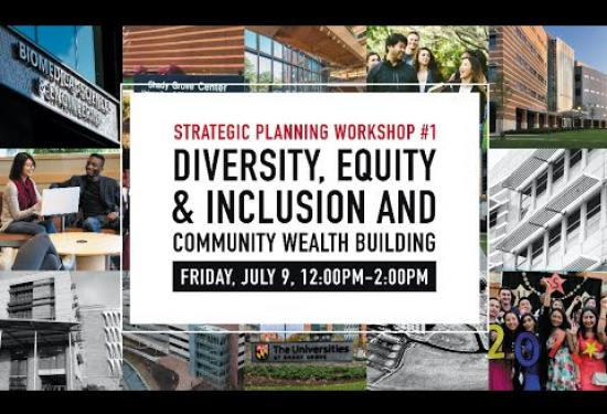 Strategic Planning Workshop #1: Diversity, Equity & Inclusion and Community Wealth Building (Held on July 29, 2021)