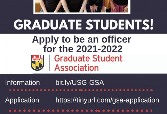 Apply for Next Year's GSA Board by May 31 (priority deadline)!