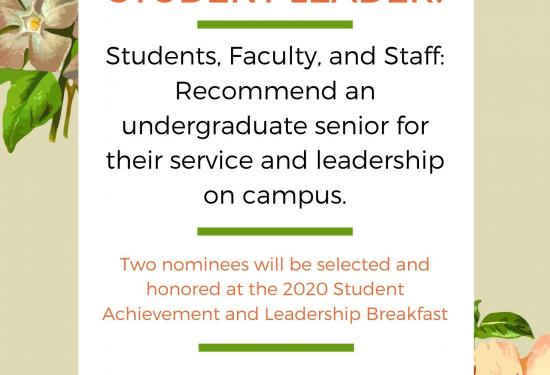 Student Leadership and Service Awards