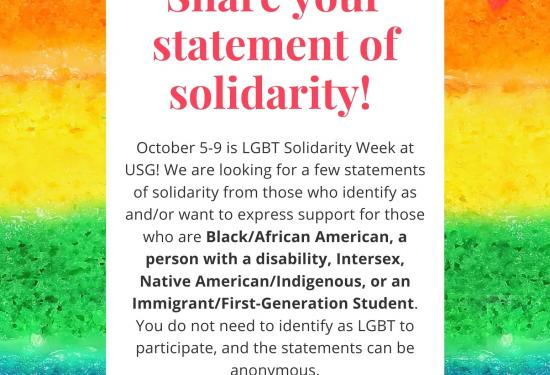 Share you statement of solidarity!