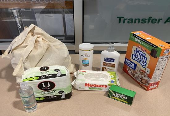 (Image of a typical Grover Essentials - Grover To Go Toiletry Bag. Items may vary from week to week.)