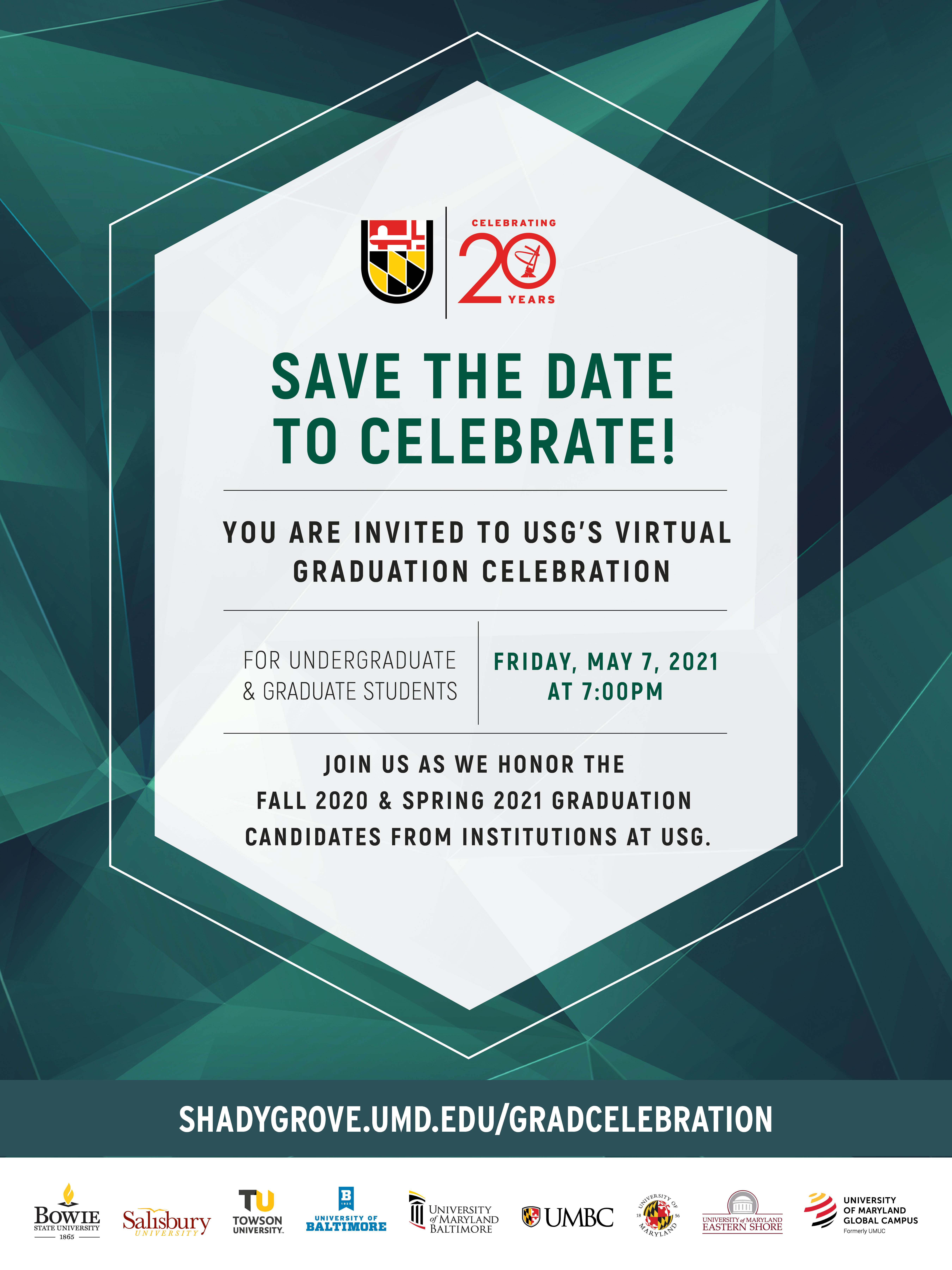 Save the Date: Virtual Graduation Celebration May 7, 2021