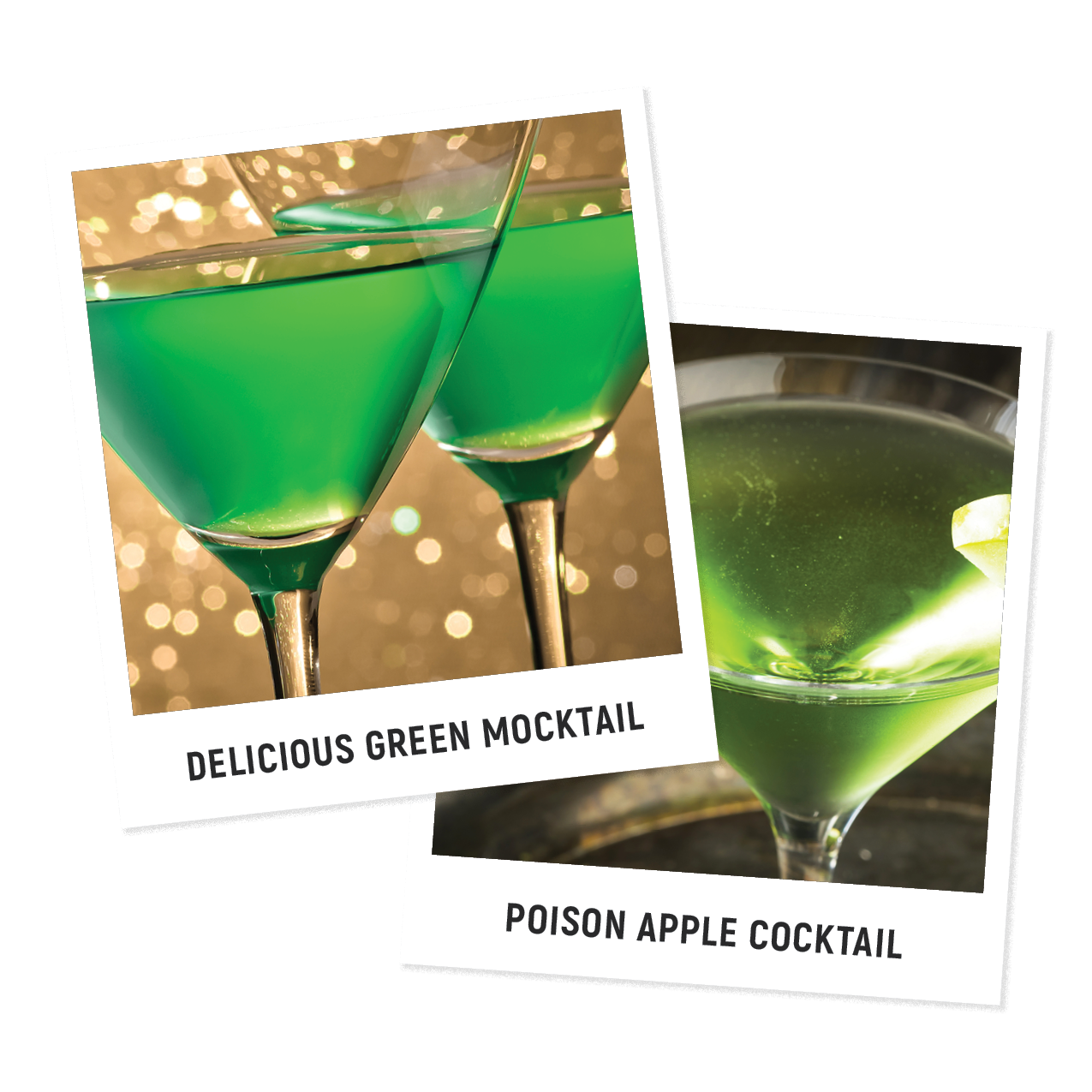 Delicious Green Mocktail and Poison Apple Cocktail